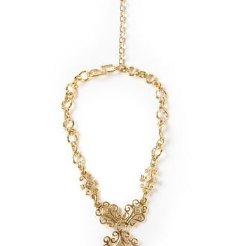 Yves Saint Laurent Vintage arabesque necklace