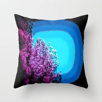 Mod Trees : Grape Purple & Blue Throw Pillow by 2sweet4words Designs
