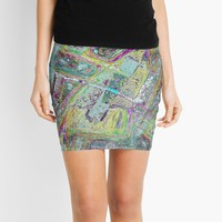 'Rocket Abstraction' Mini Skirt by SpieklyArt