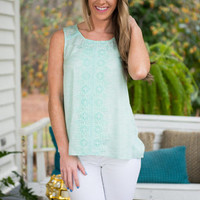 Whimsical Ways Tank, Mint