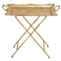 Baroque Gold Serving Tray Folding Table