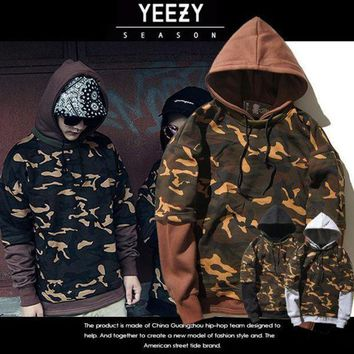 PEAPGZ9 Hoodies Men's Fashion Yeezy Hip-hop Camouflage Pullover Casual Hoodies [103864664076]