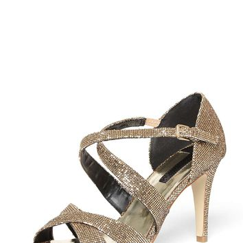 Gold Niscos 'Becca' High Heel Sandals - View All Clothing & Shoes - Clothing