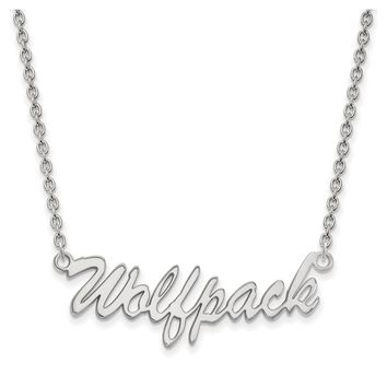 NCAA Sterling Silver North Carolina Medium Pendant Necklace