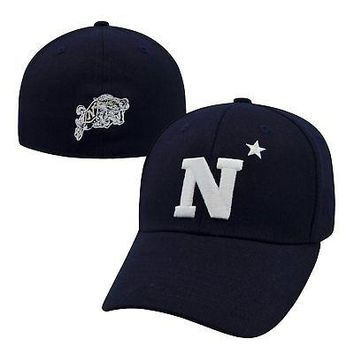 1b1b0482ae5ed Licensed Navy Midshipmen Official NCAA One Fit Premium Cuff Hat Cap by Top  of the World