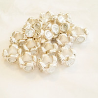 Beads for Jewelry Making | Jewelry Supply | European Jewelry Beads | Large Hole Beads | 15 Wholesale Beads | Bling Beads | Beads