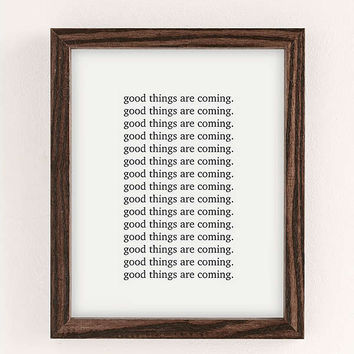 Honeymoon Hotel Good Things Are Coming Art Print | Urban Outfitters