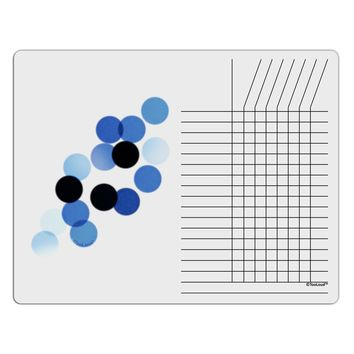 Inverted Bokeh Chore List Grid Dry Erase Board by TooLoud