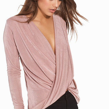 Glam Wrap Top, NLY Trend