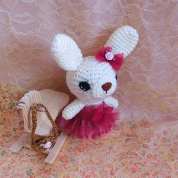 Amigurumi Rabbit Bunny Crochet Animal Stuffed Animal Crochet Toy Bunny, Gift Ideas