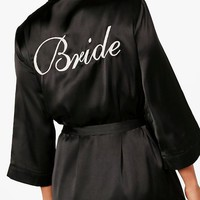 Amiee 'Bride' Satin Robe | Boohoo