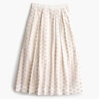 Midi skirt in fringe dot