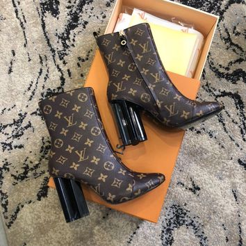 Louis Vuitton LV Monogram Silhouette Ankle Boot