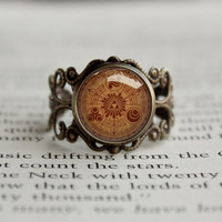 Zelda Gate of Time antique style BRONZE Ring