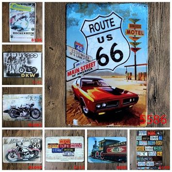 20*30 CM Vintage Tin Signs Indian Motorcycle Plaque Art Wall Decor Iron Paintings Bar Shop Garage Decor
