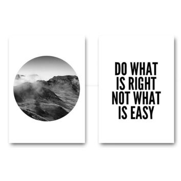 Do What Is Right Not What Is Easy Motivational Inspirational Canvas - Print Wall Art Decor Quote