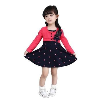 Trendy Baby Toddler Sequins Dot wool dress Girl Wedding Party One Piece Dress