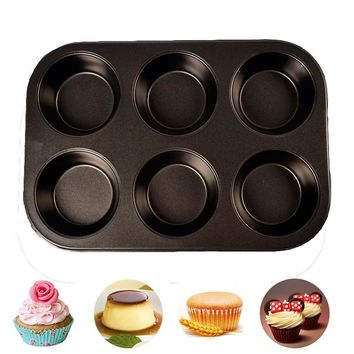 Nonstick Muffin Pans and Cupcake Maker, 6 Cup