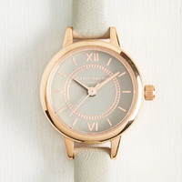 Head of the Classic Watch in Grey & Rose Gold - Mini