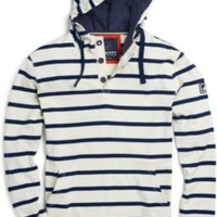 Sperry Top-Sider Stripe Pullover Hoodie VanillaIce/PeacoatNavy, Size XXL  Men's