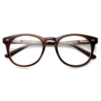 Classic Vintage Era Round P3 Clear Lens Optical Glasses 8712
