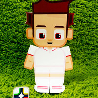 USA football soccer craft activity. Printable paper toy. Instant download. Make you own cards, banners and football soccer bunting!