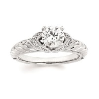 .06ct tw Diamond Engagement Ring Setting in 14K White Gold - Engagement Rings