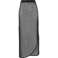 River Island Womens Black fishnet maxi skirt