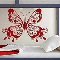Butterfly Wall Decal Kids Decals Vinyl Nursery Bedroom Girl Sticker Art Window Decor Mural MN1012 (16x22)
