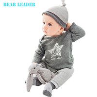 Bear Leader Winter&Autumn baby boy girl clothes casual 3pcs (Hat + T-shirt+pants) The stars leisure baby boys clothing sets