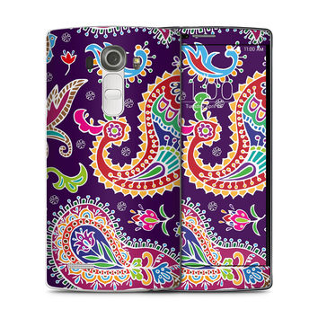 Multicolored Purple Paisley Background Skin for the LG