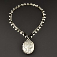 Layaway for E. Silver Book Chain Collar Necklace