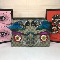 GUCCI NEW STYLE LEATHER DIONYSUS INCLINED CHAIN SHOULDER BAG