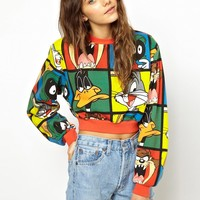 Lazy Oaf X Looney Tunes Looney Gang Cropped Sweatshirt