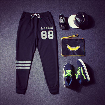Casual Korean Sports Pants [9302651527]