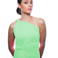 Lucite Green Convertible Wrap Dress