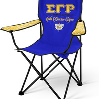 SGRho Personalized Lawn Chair, Sigma Gamma Rho Sorority Folding Chair - Name and Shield Appear on back
