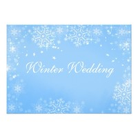 Winter Wedding Snow Flakes on Blue/Custom