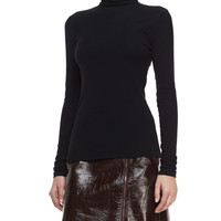 Eliezer Turtleneck Long-Sleeve Top, Size: