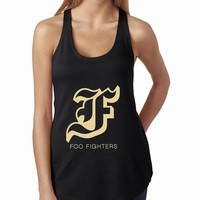 Foo Fighters Black Typography Rock Band Tank Top, Lady Women Fit Tee, Sweater Hoodie Tshirt Tank Top