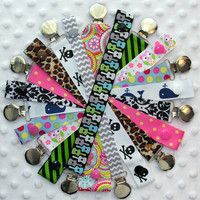 3 Soothie Pacifier Clip Strap Holders