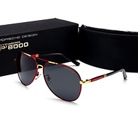 Porsche Trending Women Men Classic Shades Eyeglasses Glasses Sunglasses Red+Gold I-HWYMSH-YJ