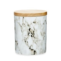 White & Grey Marble Canister - Various Sizes