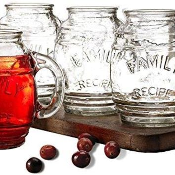 Circleware Soiree Double Old Fashioned Whiskey Glass Set of 4 148 ounce Kitchen Drinking Glasses Glassware for Water Juice Ice Tea Beer Wine and Bar Barrel Liquor Dining Decor Beverage Gifts