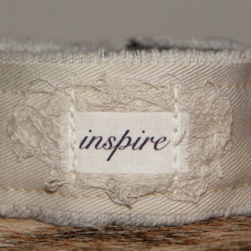 Inspire Bracelet Cuff Inspirational Jewelry ID Bracelet Personalized Jewelry Personalized Gift