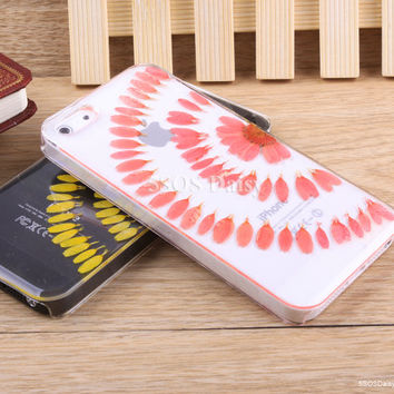 Pressed Flower daisy iPhone 5 case, iPhone 4 case, iPhone 4s case, iPhone 5s case, iPhone 5c case, Galaxy S4 S5 Note 3 - 01017-5