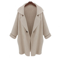 Winter Scarf Blazer Needles Jacket [8216432833]