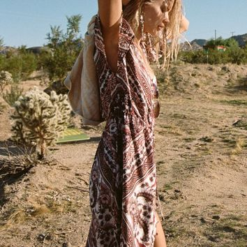 Azalea Maxi Dress in Brown