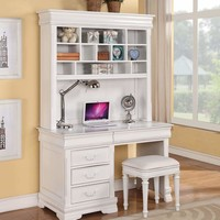 Cacique Computer Hutch, White By ACME