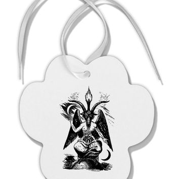 Baphomet Illustration Paw Print Shaped Ornament by TooLoud